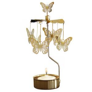 Waxinelichthouder Vlinder Goud