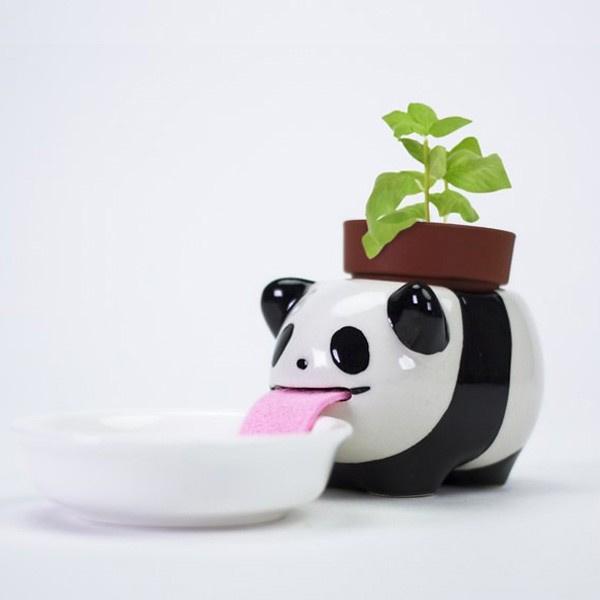 Zelfwaterende plantenpot panda