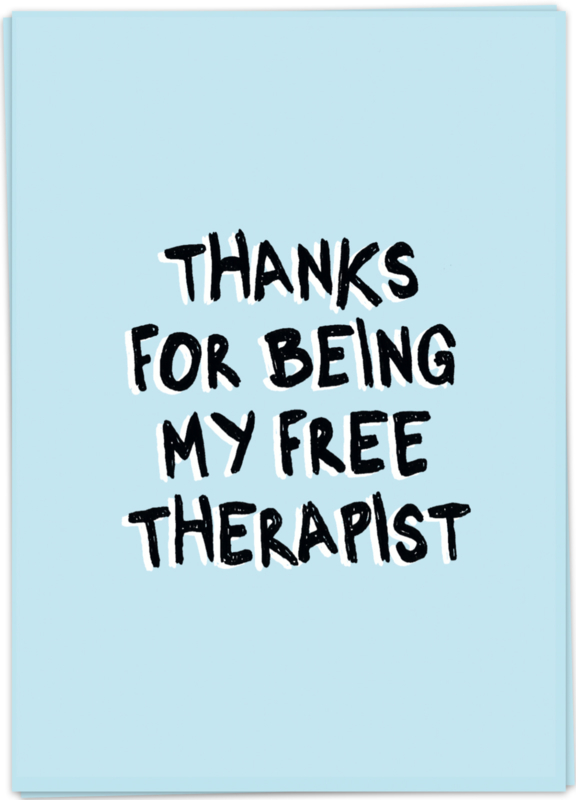 Kaart Blanche 'Free therapist'