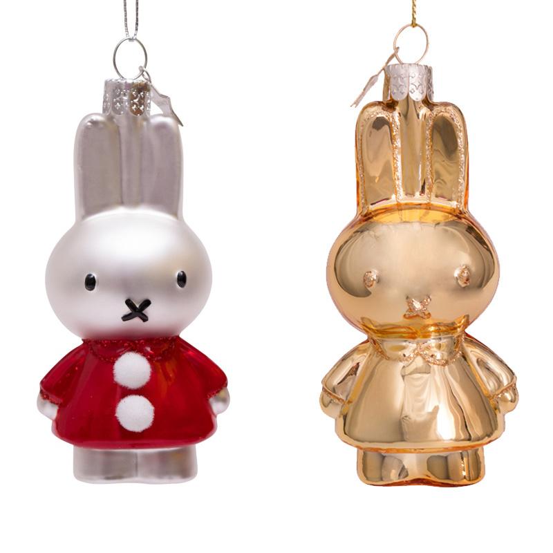 Nijntje ornament set  Santa Dress &  Shiny gold