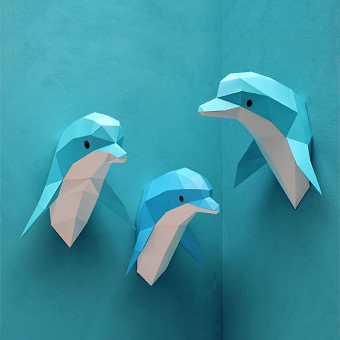 Assembli Papieren Dolfijn