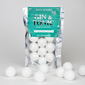 Gin tonic bath bombs