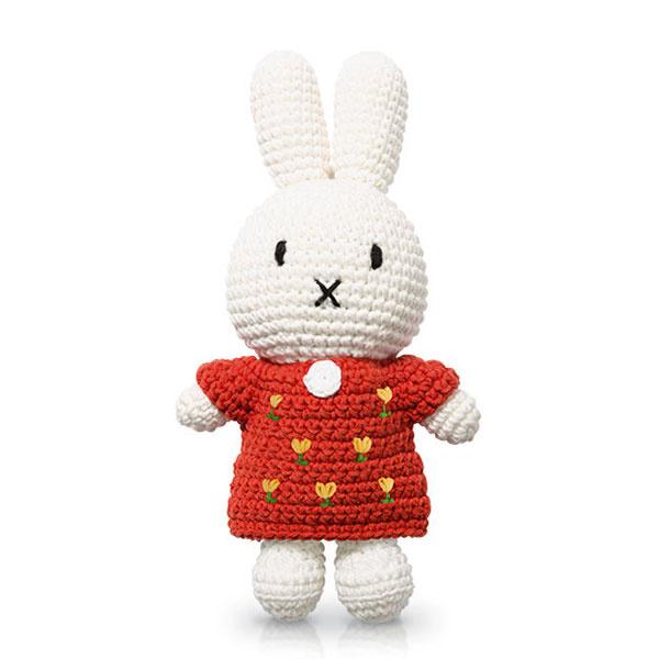 Nijntje handmade rode tulpen jurk