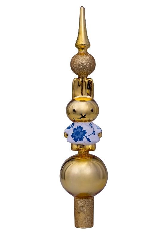 Vondels decoratie piek  Nijntje Delfts blauw