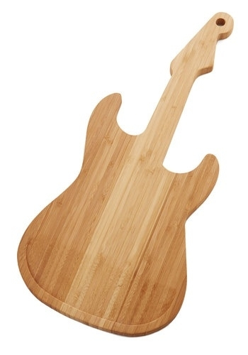Snijplank gitaar hout