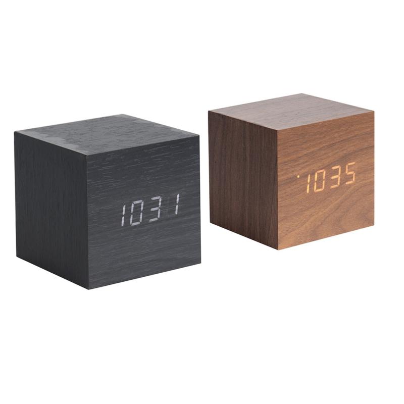 Karlsson mini kubus wekker (twee kleuren)