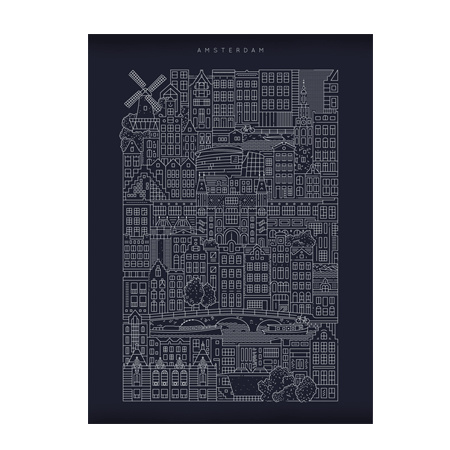 The City Work Amsterdam blue print A3