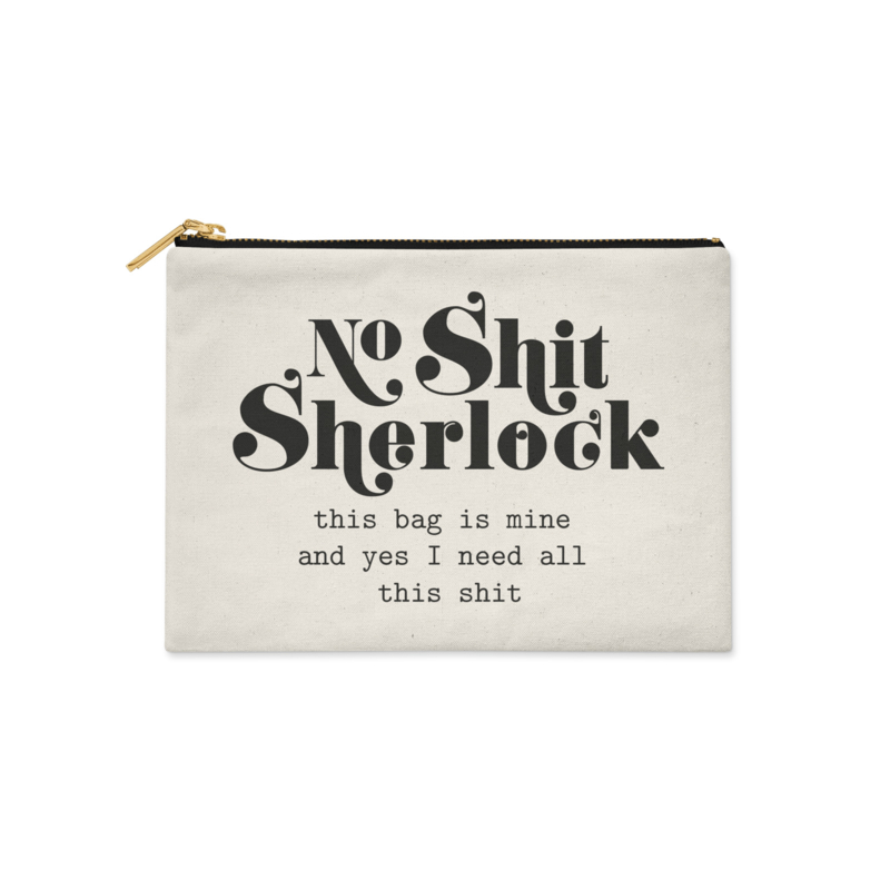 "Canvas bag ""Sherlock white"""