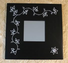 Kader zwart met spiegel, 25,5cm x 25,5cm