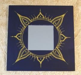 Kader paars met spiegel, 25,5cm x 25,5cm