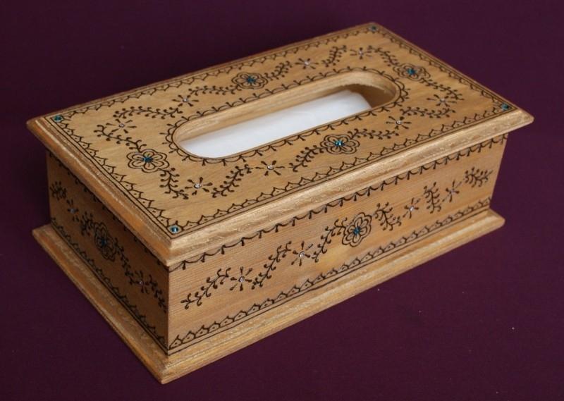 Kistje voor zakdoekjes, 15 x 27 x 9 cm