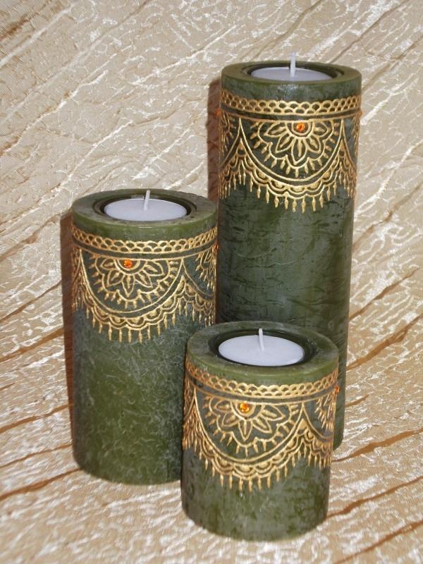 Set van 3 kaarsen