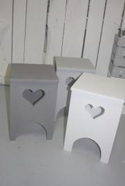 Krukje met hart (beschilderd)