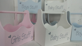 Houten bak XL 'Girls Stuff'