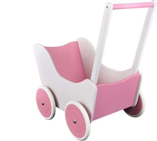 Poppenwagen Wit/Roze 'Special Edition'