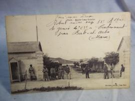 Postkaart met koloniale troepen Marokko en regimentsnummer