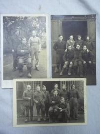 """3 Belgium photo`s from prisonercamp Stalag.3 foto""""s met Belgische Krijgsgevangenen. STALAG XI A Kd.11/1"""