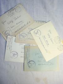 5 covers SS verfugungstruppen. 5 Feldpost enveloppen van de SS met stempels