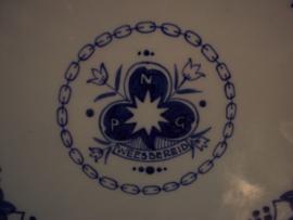 Wandbord Delfts Blauw, van de scouting, Weest bereid. gaaf bord.