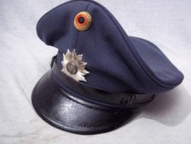 German police cap, Duitse politie pet met deelstaat embleem.
