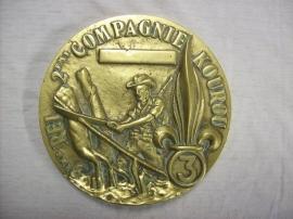 Medal Legion Etrangere. Penning Vreemdelingen legioen zeer groot em heel zwaar op naam Leg. Moore