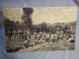 Postkaart Koloniale troepen met regimentsnummer Marokaanse troepen