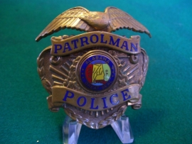 Police cap badge original Unites States Albama Patrolman