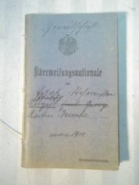 German uberweisungsnationale 1915 soldbuch