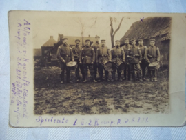 Duitse postkaart Militaire front muziekkapel
