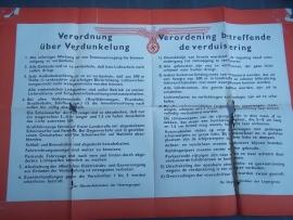 Duitse verordening, i.v.m. verduistering, zwaar gebruikte staat maar toch bijzonder.