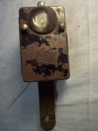 German flashlight, TRIOLA, Duitse zaklamp met bol glas, Wehrmacht gebruikt.