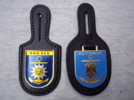 Duitse borsthangers van de Bundes Grenz Schutz Kustenwache, zeer bijzonder