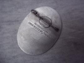Tinnie  BEFREIUNGS GAUFEST  D.R.L. 1935 SAARBRUCKEN, met maker Robinson - Oberstein.