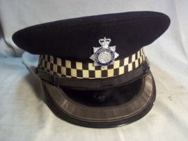British police cap officer. Engelse politie pet officier
