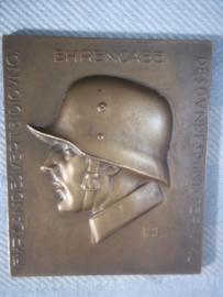 Austrian plaque shooting price. Oostenrijkse penning Bestschiessen 1935. Ehrengabe für Landesverteidigung des Bundesministeriums.