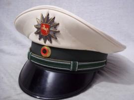 German police cap. Duitse politie pet, met deelstaat embleem.