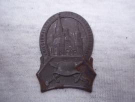 German tinnie, rally badge, Duitse tinnie Kriegerwallfahrt zur Bergkapelle Ziel. aparte tinnie.