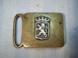 Dutch ancient police buckle, nederlandse koppelgesp van de Rijks veldwachter, die dienst deed in Leeuwaarden, zeer bijzonder.