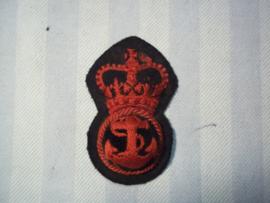 British Naval cap badge from Malta, Engels marine pet embleem, manschap