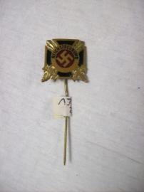 German pin Reichstreubund. Duits draagspeldje geemailleerd. goede staat