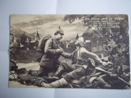 German postcard, Feldpost 1915.Duitse veldpostbrief patriotisch