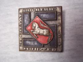 German tinnie, rally badge, Duitse tinnie Heimat und Reich Münster 1933.