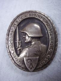 Swiss badge, Zwitsers speldje embleem 1914 en 1939 Mobilisations erinnerungsfeier