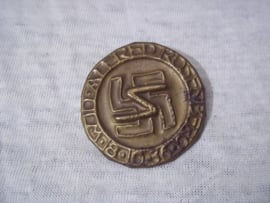 German tinnie, rally badge, Duitse tinnie Alfred Rosenberg 18-10-36.