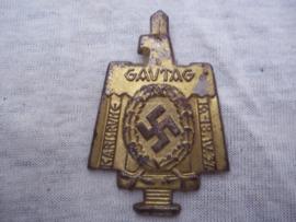 German tinnie rally badge Duitse tinnie  Gautag Karlsruhe  16-18 - IV - 1937