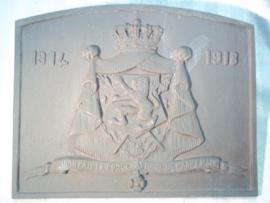 Belgium iron plate Gietijzeren plaat Belgie Eendracht maakt macht Lúnion fail la Force  1914-1918