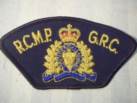 Sleeve badge Royal Canadian Mountain Police. Mouwembleem Canadeese politie Mounties