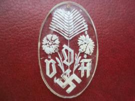 glazen hanger van de VDA. Volksbund fur das Deutschtum im Ausland.