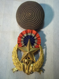 French badge shako Mdl. 1886-1918 officer. Frans embleem voor de sjako, Administratie officier zeer apart