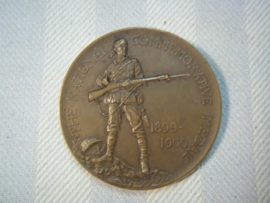 British commemorativ medal 1899- 1900 Transvaal war. Bronzen penning Boeren oorlog Afrika 1899-1900 .